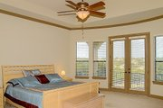 European Style House Plan - 4 Beds 4 Baths 4050 Sq/Ft Plan #80-160 Interior - Master Bedroom