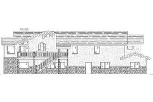 House Plan Design - Traditional Exterior - Rear Elevation Plan #5-219