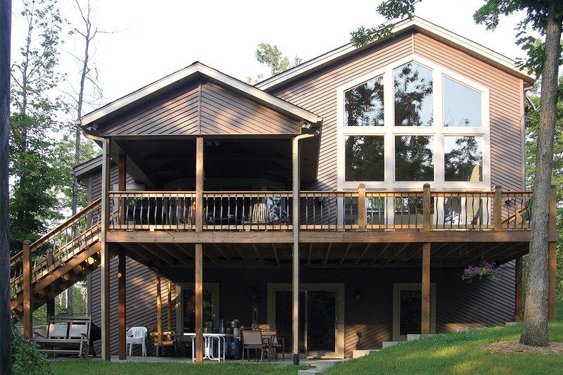 Contemporary Exterior - Rear Elevation Plan #57-150 - Houseplans.com