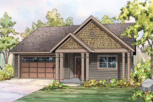 Craftsman Exterior - Front Elevation Plan #124-899