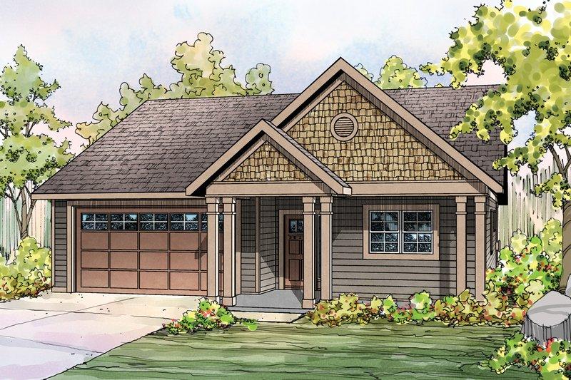 Craftsman Exterior - Front Elevation Plan #124-899 - Houseplans.com