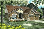 European Style House Plan - 4 Beds 3 Baths 1875 Sq/Ft Plan #17-122 Exterior - Front Elevation