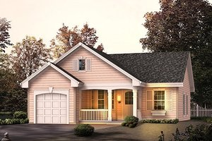 Cottage Exterior - Front Elevation Plan #57-314