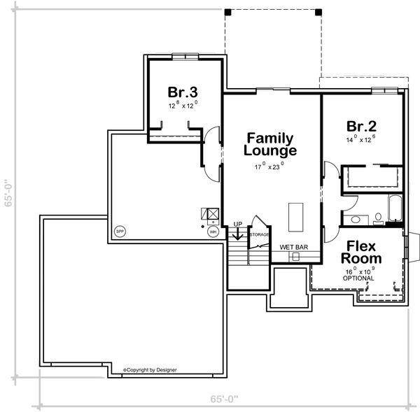 House Plan Design - Contemporary Floor Plan - Lower Floor Plan #20-2461