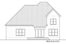 Dream House Plan - Tudor Exterior - Rear Elevation Plan #413-887