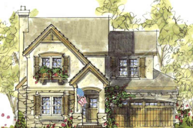 Colonial Style House Plan - 4 Beds 2.5 Baths 1901 Sq/Ft Plan #20-1226 Exterior - Front Elevation