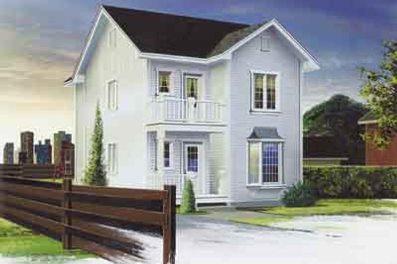 Traditional Exterior - Front Elevation Plan #23-502 - Houseplans.com