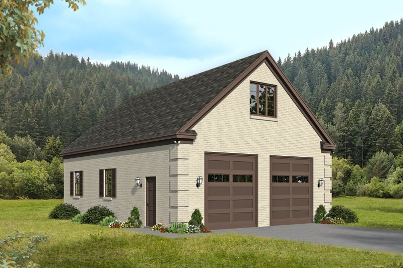 Architectural House Design - Country Exterior - Front Elevation Plan #932-369