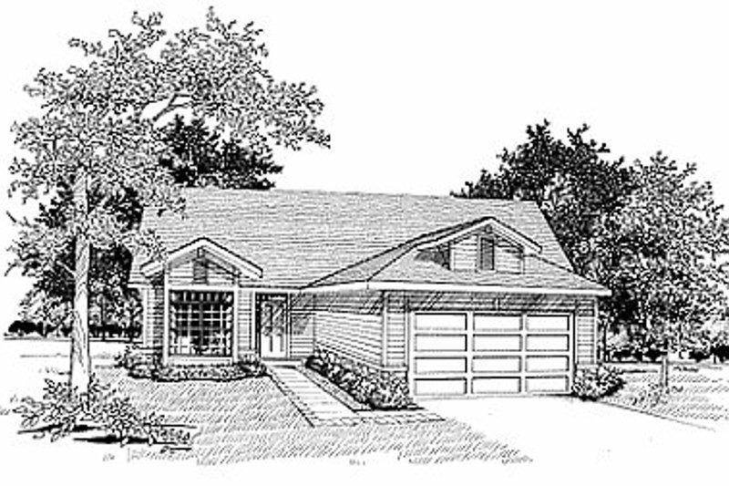 Cottage Exterior - Front Elevation Plan #70-117