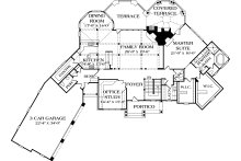 Craftsman Floor Plan - Main Floor Plan Plan #453-43