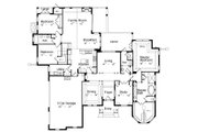 Traditional Style House Plan - 4 Beds 4 Baths 3098 Sq/Ft Plan #417-358 Floor Plan - Main Floor Plan