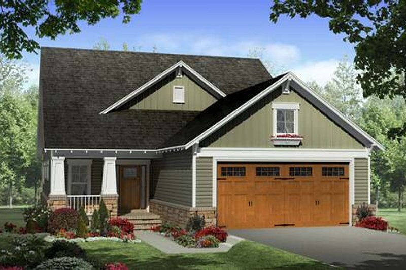Craftsman Exterior - Front Elevation Plan #21-263