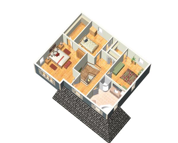 Country Floor Plan - Upper Floor Plan Plan #25-4412