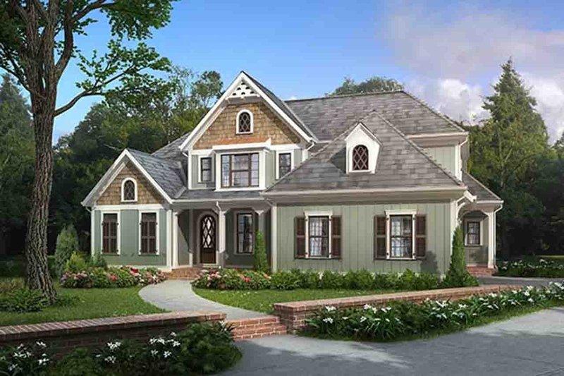 Home Plan - European Exterior - Front Elevation Plan #927-20
