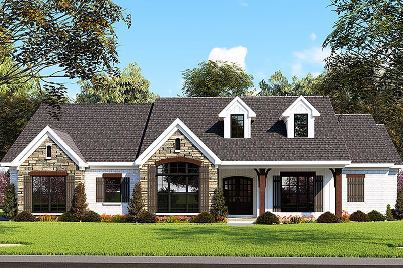 Farmhouse Style House Plan - 3 Beds 2.5 Baths 2112 Sq/Ft Plan #923-151 Exterior - Front Elevation