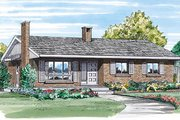 Ranch Style House Plan - 3 Beds 1 Baths 1054 Sq/Ft Plan #47-136 Exterior - Front Elevation