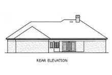 Home Plan Design - European Exterior - Rear Elevation Plan #45-143