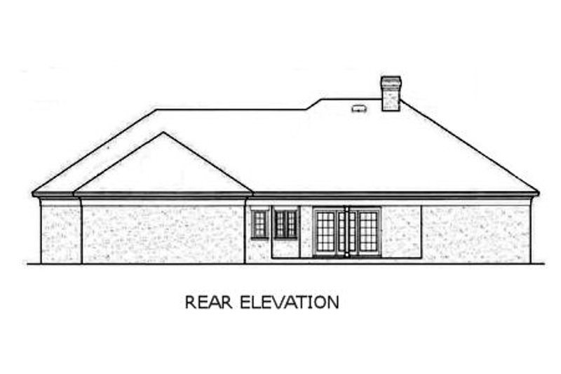 European Exterior - Rear Elevation Plan #45-143 - Houseplans.com