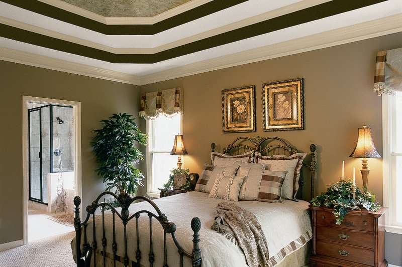 Country Interior - Master Bedroom Plan #927-8 - Houseplans.com