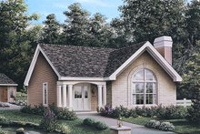 Cottage Exterior - Front Elevation Plan #57-196