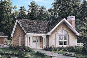 Cottage Exterior - Front Elevation Plan #57-196