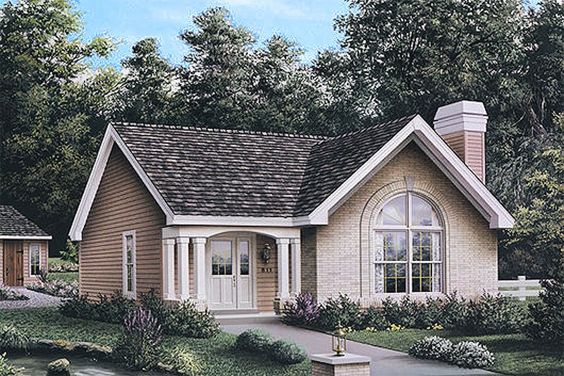 Cottage Style House Plan - 3 Beds 2 Baths 1161 Sq/Ft Plan #57-196
