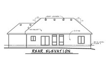 House Plan Design - Ranch Exterior - Rear Elevation Plan #20-2295