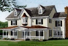 Southern Exterior - Front Elevation Plan #410-110