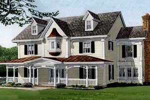 Home Plan - Southern Exterior - Front Elevation Plan #410-110