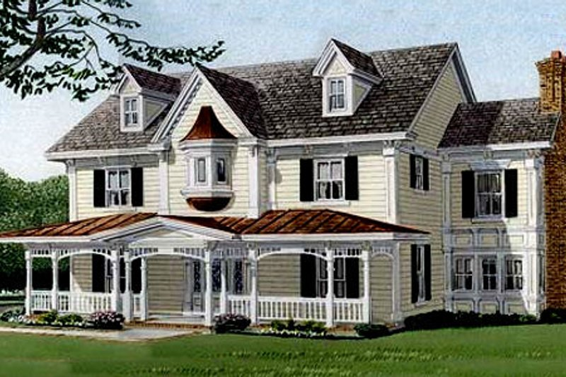 Southern Exterior - Front Elevation Plan #410-110 - Houseplans.com