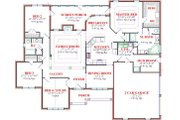 Traditional Style House Plan - 4 Beds 2 Baths 2481 Sq/Ft Plan #63-129 Floor Plan - Main Floor Plan