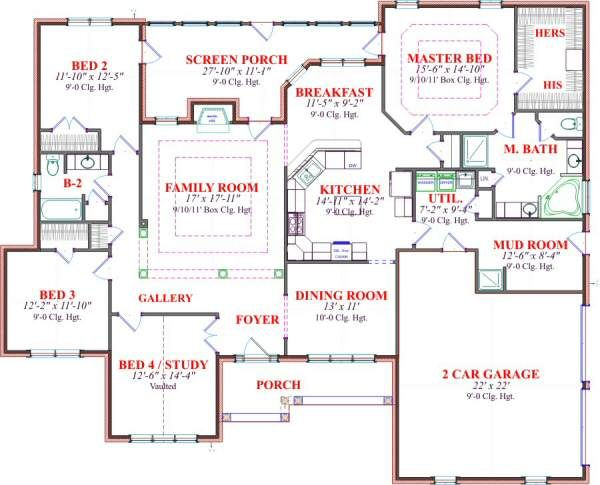Traditional Floor Plan - Main Floor Plan Plan #63-129