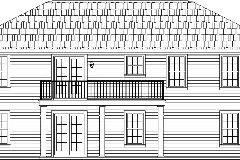 Ranch Exterior - Rear Elevation Plan #21-371 - Houseplans.com