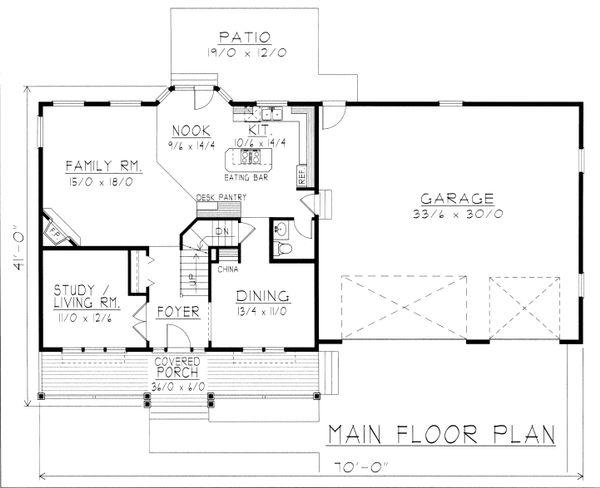 Home Plan - Farmhouse Floor Plan - Main Floor Plan #112-165