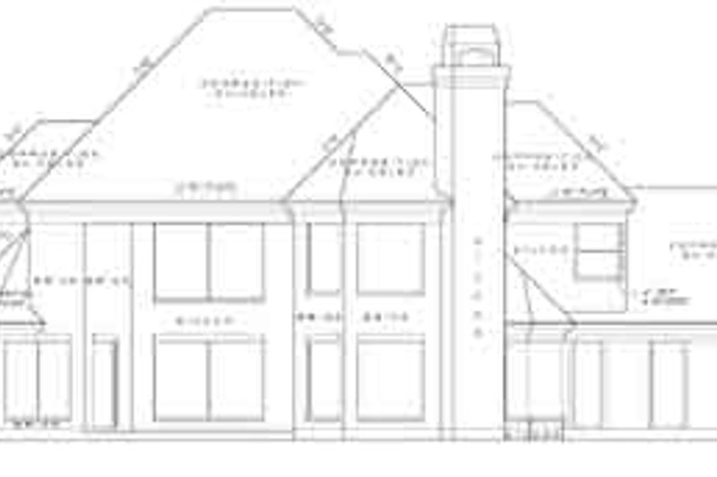 Traditional Exterior - Rear Elevation Plan #61-132 - Houseplans.com