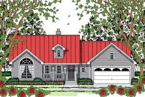 Farmhouse Exterior - Front Elevation Plan #42-403
