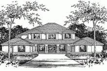 Dream House Plan - Mediterranean Exterior - Front Elevation Plan #472-20