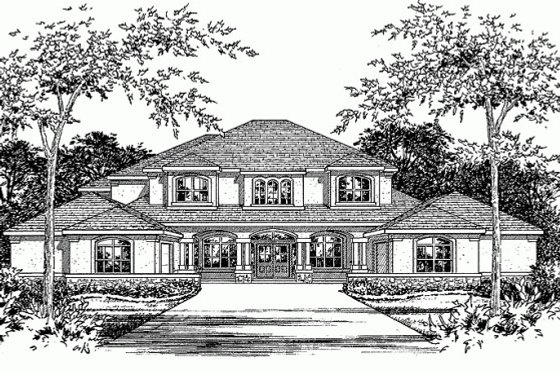 Mediterranean Exterior - Front Elevation Plan #472-20