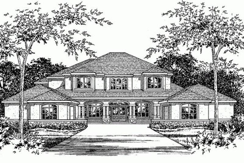 Mediterranean Style House Plan - 4 Beds 4 Baths 4939 Sq/Ft Plan #472-20