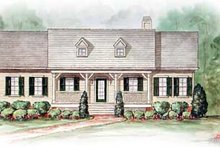 Architectural House Design - Farmhouse Exterior - Front Elevation Plan #54-110