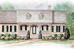House Blueprint - Farmhouse Exterior - Front Elevation Plan #54-110