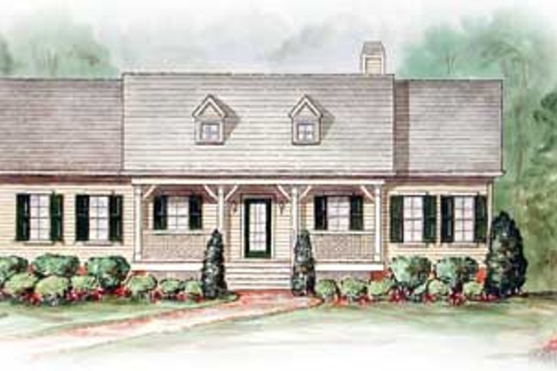 Farmhouse Style House Plan - 3 Beds 2 Baths 1624 Sq/Ft Plan #54-110 Exterior - Front Elevation