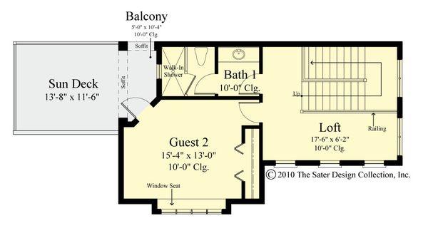 Contemporary Floor Plan - Upper Floor Plan #930-521