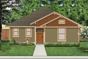 Cottage Exterior - Front Elevation Plan #84-512