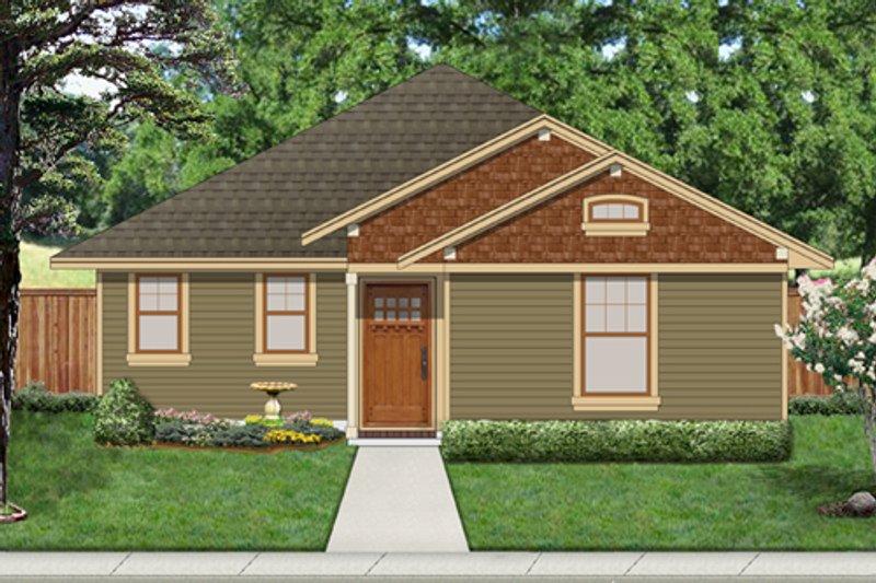 Cottage Exterior - Front Elevation Plan #84-512