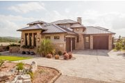 Prairie Style House Plan - 4 Beds 4.5 Baths 3716 Sq/Ft Plan #80-198 Exterior - Other Elevation