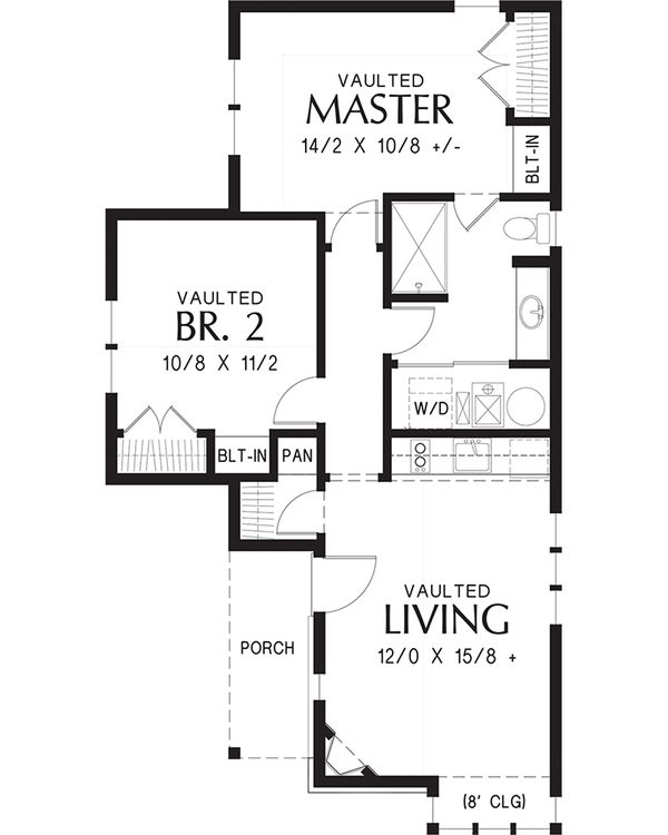 House Plan Design - Cottage Floor Plan - Main Floor Plan #48-653