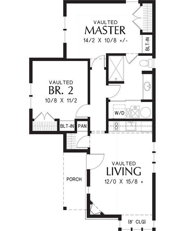 Cottage Floor Plan - Main Floor Plan #48-653
