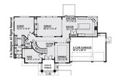 Contemporary Style House Plan - 5 Beds 4.5 Baths 4039 Sq/Ft Plan #1066-14 Floor Plan - Main Floor Plan