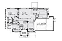 Contemporary Floor Plan - Main Floor Plan Plan #1066-14